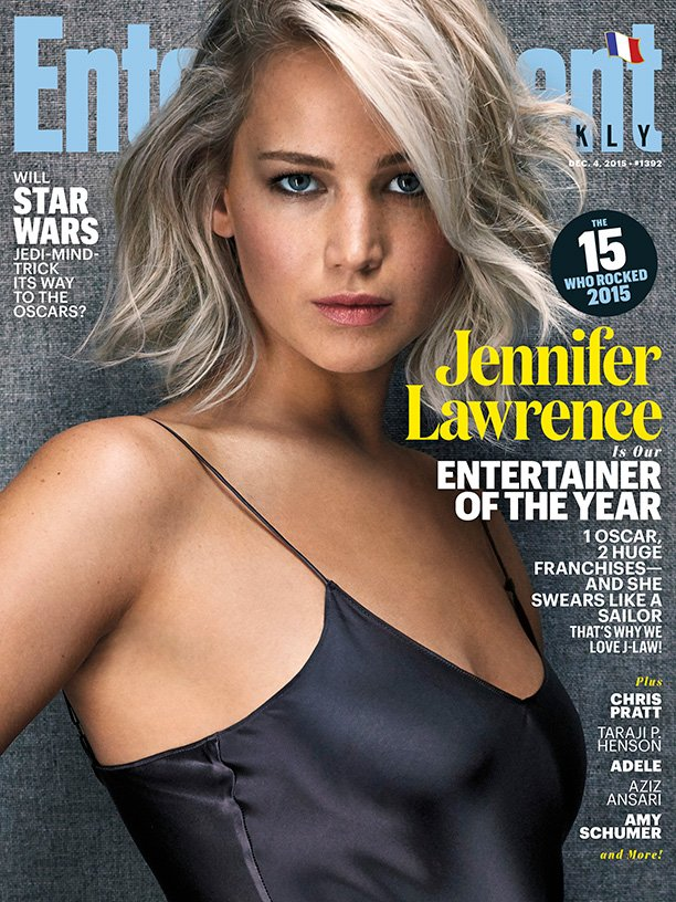 Jennifer Lawrence is Entertainment Weeklys Entertainer of the Year