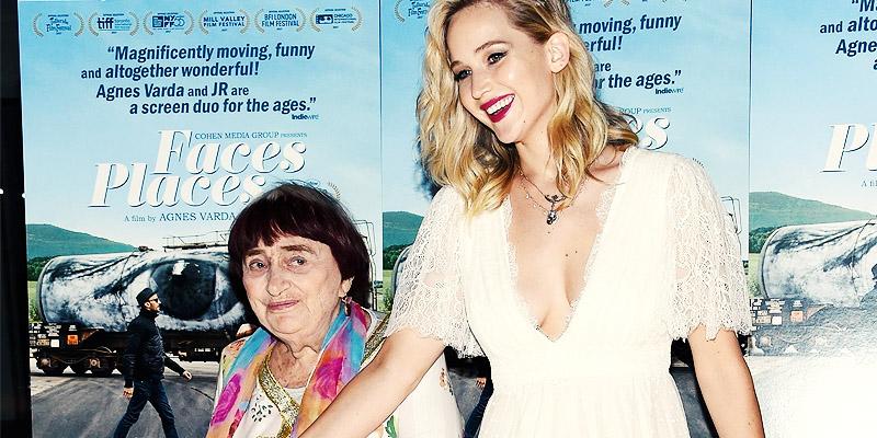 Jennifer Lawrence attends Faces Places Premiere