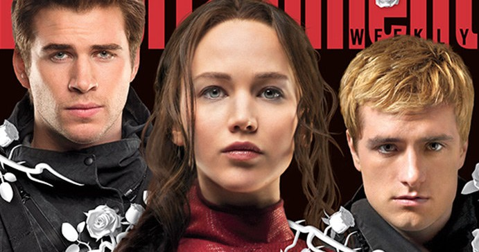Jennifer Lawrence, Josh Hutcherson and Liam Hemsworth cover the new Entertainment Weekly
