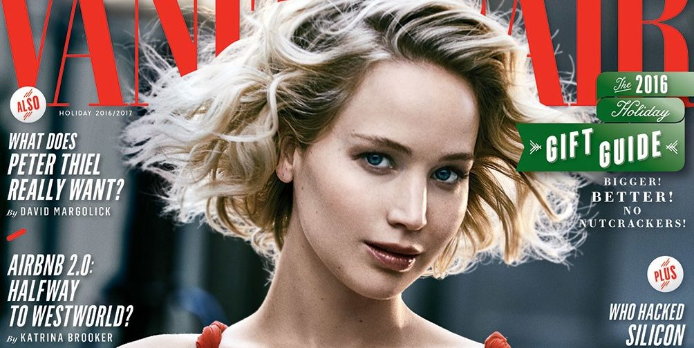 Jennifer Lawrence covers Vanity Fair Holiday 2016 Issue