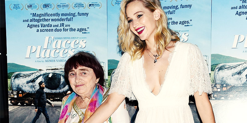 Jennifer Lawrence attends Faces Places Premiere